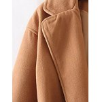 Long Wool Wrap Coat With Pocket deal