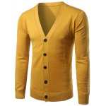 Slim Fit Button Up V Neck Cardigan