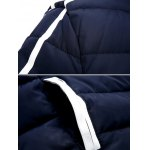 cheap Striped Hooded Quilted Zip Jacket