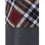 Plaid Trim Hooded Coat for sale