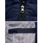 Striped Hooded Quilted Zip Jacket deal