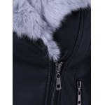best Faux Fur Collar Cropped Biker Jacket