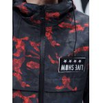 Zip Up Patch Design Hooded Camo Coat for sale