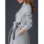 Wool Maxi Skirted Coat With Pocket photo