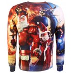 Crew Neck Graphic Christmas Sweatshirt deal