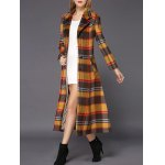 Wool Checked Long Skirted Coat deal