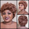 Short Towheaded Curly Synthetic Wig
