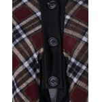 Plaid Trim Button Fly Coat photo