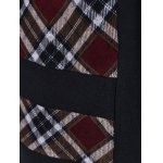 Plaid Trim Button Fly Coat for sale