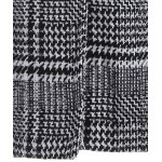 Pom Ball Houndstooth Pattern Plus Size Hooded Coat photo