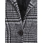 Pom Ball Houndstooth Pattern Plus Size Hooded Coat for sale