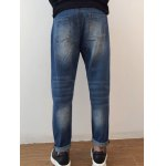 best Applique Tapered Distressed Harem Jeans