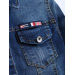 The Union Flag Spliced Cropped Jean Jacket photo