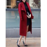 cheap Epaulet Embellished Long Buttons Coat