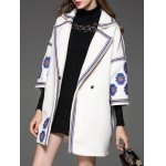 Ethnic Embroidered Trim Cashmere Coat deal
