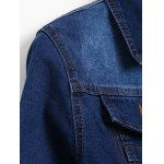 Distressed Faded Cropped Denim Jacket deal