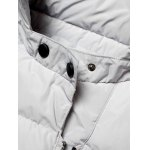 cheap Side Zip Up 79 Patch Quilted Hooded Coat
