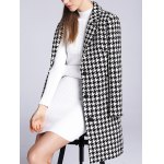 Lapel Single Breasted Houndstooth Coat deal