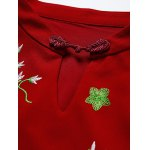Keyhole Floral Embroidered Fitted Dress deal