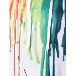 Paint Drip Drawstring Hoodie for sale