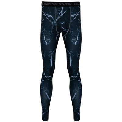 3D Lightning Printed Skintight Quick-Dry Gym Pants
