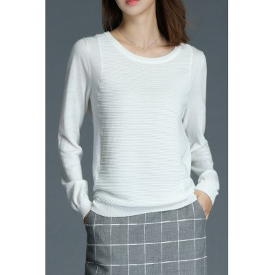 Scoop Neck Ribbed Sweater