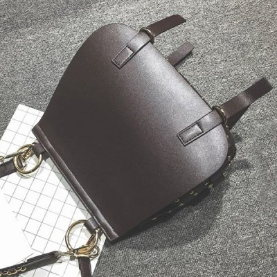 Metal Ring Rivets PU Leather Crossbody BagWomens Bags<br>Metal Ring Rivets PU Leather Crossbody Bag<br><br>Handbag Type: Crossbody bag<br>Style: Fashion<br>Gender: For Women<br>Embellishment: Rivet<br>Pattern Type: Others<br>Handbag Size: Small(20-30cm)<br>Closure Type: Cover<br>Interior: Cell Phone Pocket<br>Occasion: Versatile<br>Main Material: PU<br>Weight: 0.980kg<br>Size(CM)(L*W*H): 24*13*26<br>Strap Length: Short:22CM, Long:120CM (Adjustable)<br>Package Contents: 1 x Crossbody Bag