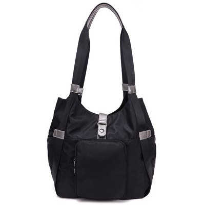 Casual Nylon Pocket Shoulder Bag