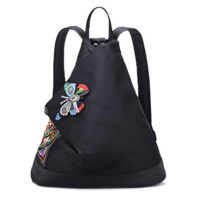 Embroidery Butterfly Pattern Backpack