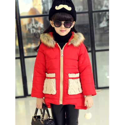 Girls Hooded Pocket Anorak Coat