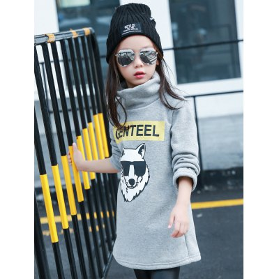 Girls Long Sleeve Wolf Print T-ShirtGirls Clothing<br>Girls Long Sleeve Wolf Print T-Shirt<br><br>Material: Polyester<br>Sleeve Length: Full<br>Collar: Stand-Up Collar<br>Style: Casual<br>Pattern Type: Animal<br>Weight: 0.384kg<br>Package Contents: 1 x T-Shirt