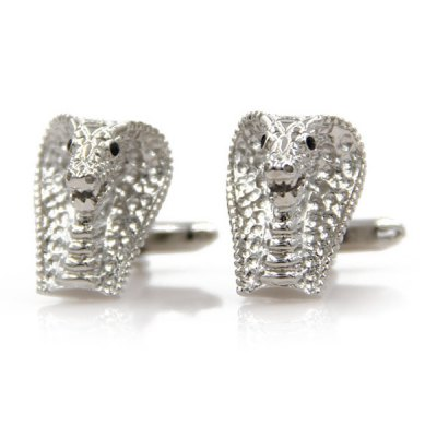 Immobile Cobra Head Shape Cufflinks