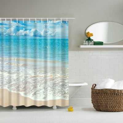 Mouldproof Waterproof Beach Bath Shower Curtain