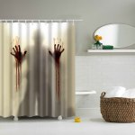 Scarry Shadow Polyester Waterproof Bath Decor Shower Curtain