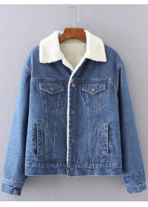 BF Fleece Jean Jacket with Sleeves