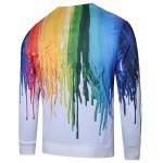 cheap 3D Colorful Splatter Paint Print V Neck Single Breasted Jacket