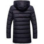 cheap Hooded Zip Up Thicken Selvedge Embellished Padded Coat
