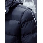Hooded Zip Up Thicken Selvedge Embellished Padded Coat deal