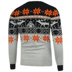 cheap Crew Neck Deerlet Snowflake Christmas Sweater