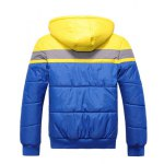 cheap Hooded Color Block Spliced Zip Up Thicken Padded Jacket