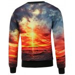 Scenic Print Crew Neck Sweatshirt and Jogger Pants Twinset deal