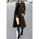 Woolen Long Trench Coat with Belt for sale