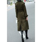 cheap Woolen Long Trench Coat with Belt