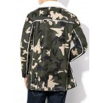 Plus Size Thicken Zip Up Camouflage Sherpa Coat deal