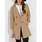 Double Breasted Slim Fit Trench Coat