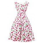 cheap Retro Style Cherry Printing Dress