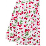 Retro Style Cherry Printing Dress for sale