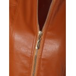 Slim Fit Faux Leather Jacket for sale