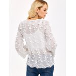 Embroidered Chiffon Blouse for sale