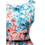 Vintage Blossom Print Sleeveless Dress deal